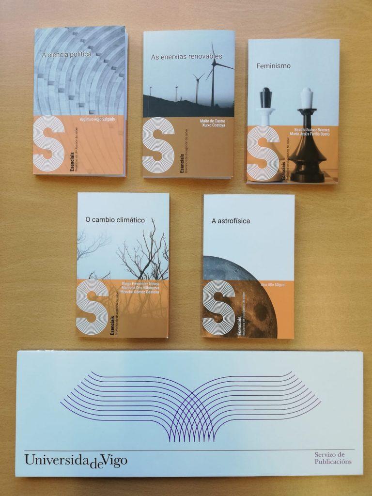 Os cinco volúmenes da colección Esenciais